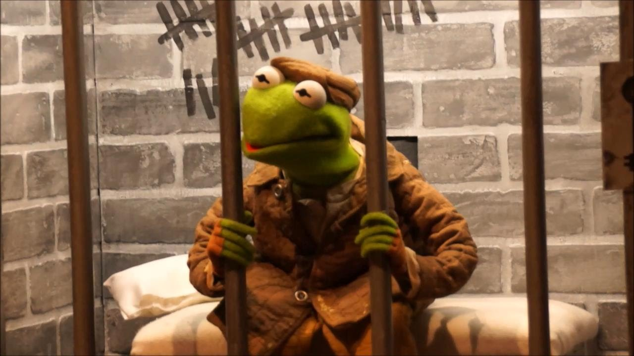 Kermit in jail Blank Meme Template
