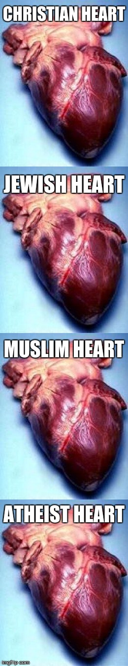 Not trying to make a point, I'm just showing off my collection | CHRISTIAN HEART ATHEIST HEART MUSLIM HEART JEWISH HEART | image tagged in hearts | made w/ Imgflip meme maker