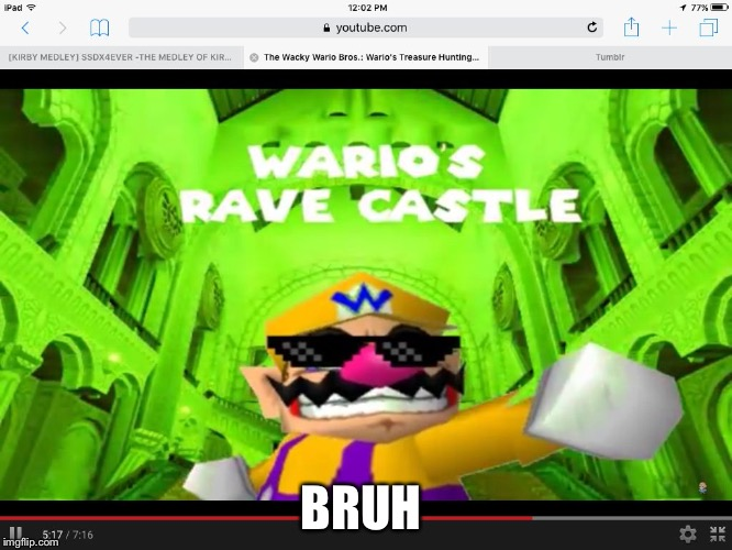 BRUH | image tagged in wario | made w/ Imgflip meme maker