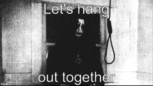 Let's hang out together | Let's hang out together | image tagged in lets,hang,together,noose,rope | made w/ Imgflip meme maker