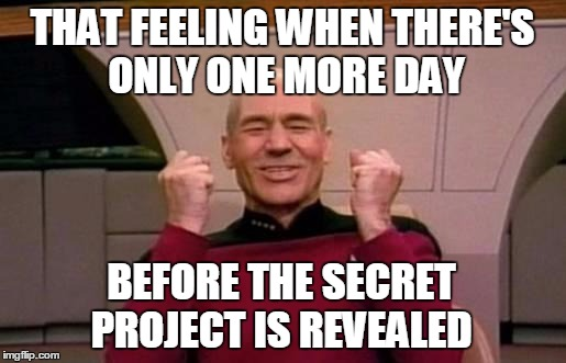 12ykr2 secret project countdown 1 day imgflip,Count Down Meme