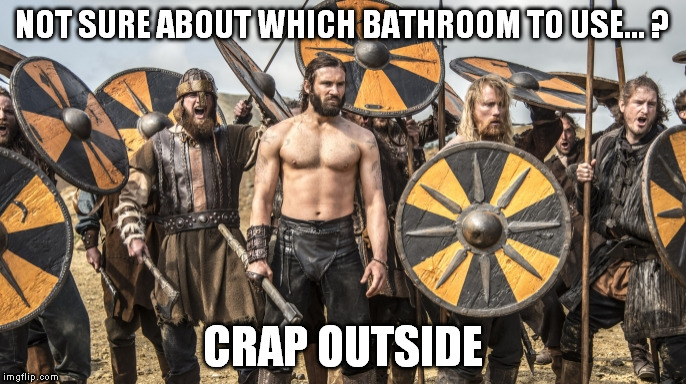 NOT SURE ABOUT WHICH BATHROOM TO USE... ? CRAP OUTSIDE | made w/ Imgflip meme maker