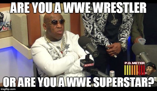WWE Wrestler or Superstar? By Birdman. | ARE YOU A WWE WRESTLER OR ARE YOU A WWE SUPERSTAR? | image tagged in memes,funny memes,respeck,birdman,wwe | made w/ Imgflip meme maker