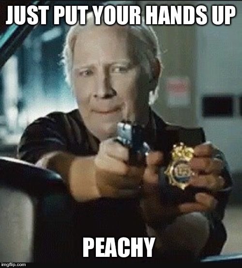 JUST PUT YOUR HANDS UP PEACHY | made w/ Imgflip meme maker