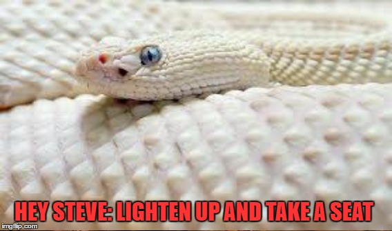 HEY STEVE: LIGHTEN UP AND TAKE A SEAT | made w/ Imgflip meme maker