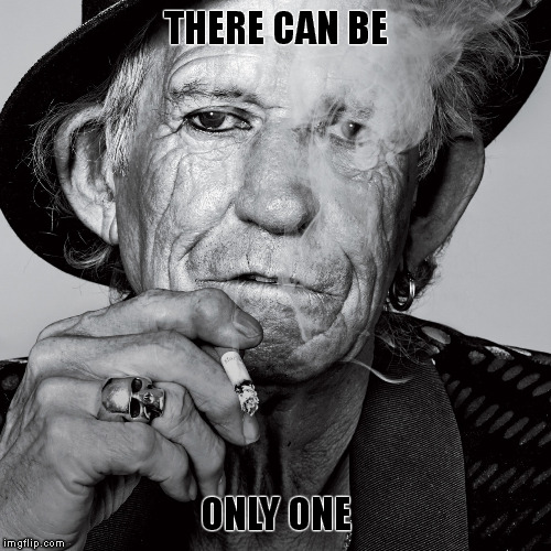 "The seemingly ""immortal"", Keith Richards. 