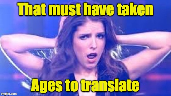 I don't believe it Anna | That must have taken Ages to translate | image tagged in i don't believe it anna | made w/ Imgflip meme maker