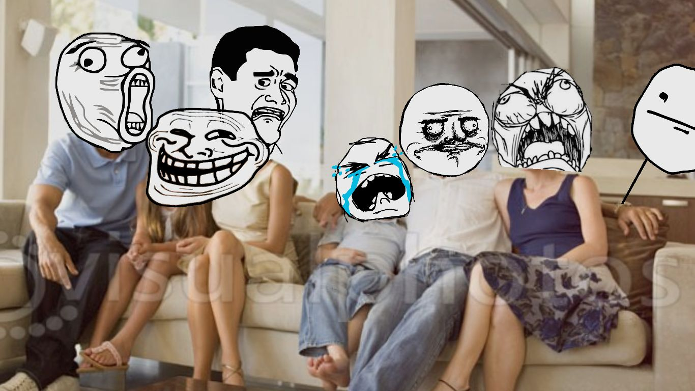 rage face family Meme Template