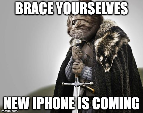 iPhone 6S | BRACE YOURSELVES NEW IPHONE IS COMING | image tagged in brace yourselves kitty keanu | made w/ Imgflip meme maker