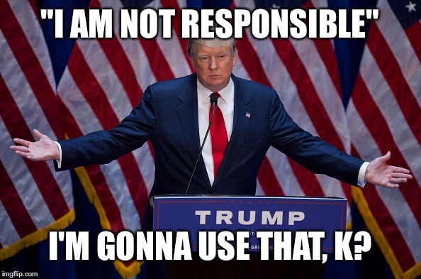 """I AM NOT RESPONSIBLE"" I'M GONNA USE THAT, K? 
