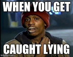 getting caught lying