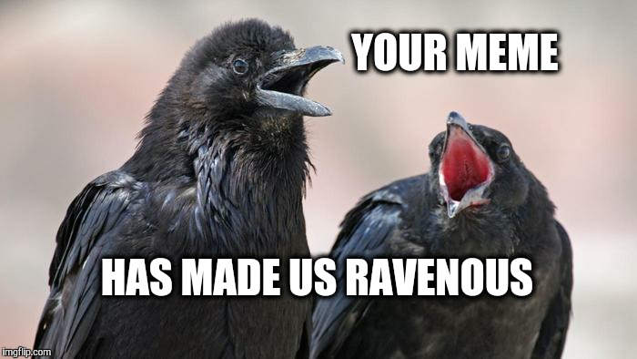 YOUR MEME HAS MADE US RAVENOUS | made w/ Imgflip meme maker
