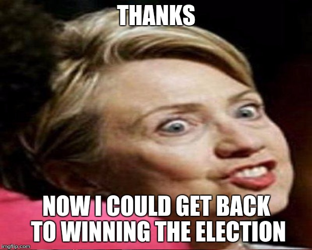THANKS NOW I COULD GET BACK TO WINNING THE ELECTION | made w/ Imgflip meme maker