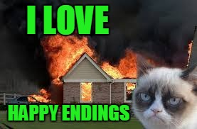 I LOVE HAPPY ENDINGS | made w/ Imgflip meme maker