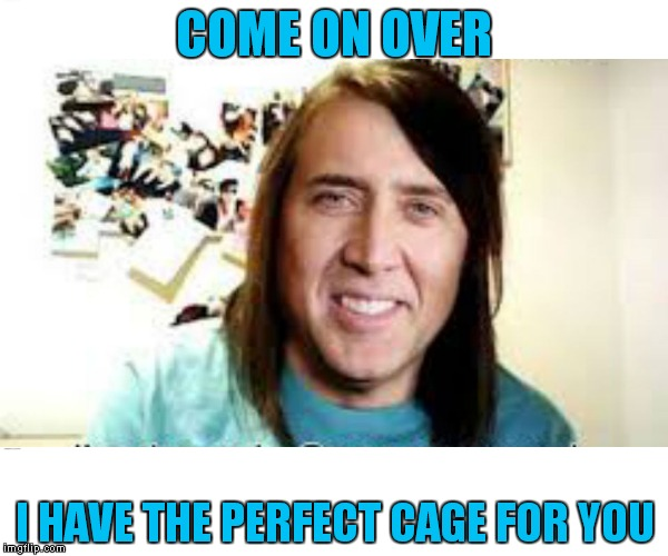 COME ON OVER I HAVE THE PERFECT CAGE FOR YOU | made w/ Imgflip meme maker