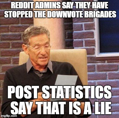 Reddit admins say they have stopped downvote brigades  - Imgflip