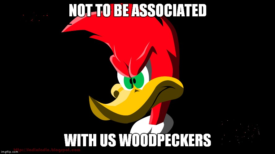 NOT TO BE ASSOCIATED WITH US WOODPECKERS | made w/ Imgflip meme maker