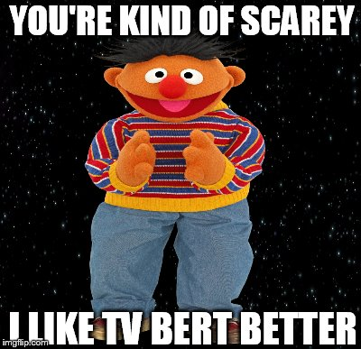 YOU'RE KIND OF SCAREY I LIKE TV BERT BETTER | made w/ Imgflip meme maker