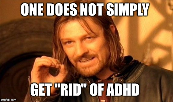"One Does Not Simply Meme | ONE DOES NOT SIMPLY GET ""RID"" OF ADHD 