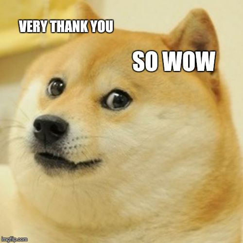 Doge Meme | VERY THANK YOU SO WOW | image tagged in memes,doge | made w/ Imgflip meme maker