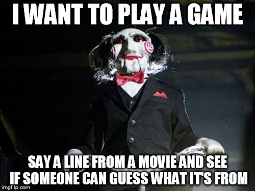 """Say hello to my little friend"" 