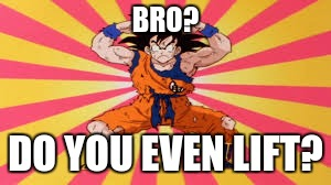 BRO? DO YOU EVEN LIFT? | image tagged in goku,do you even lift | made w/ Imgflip meme maker