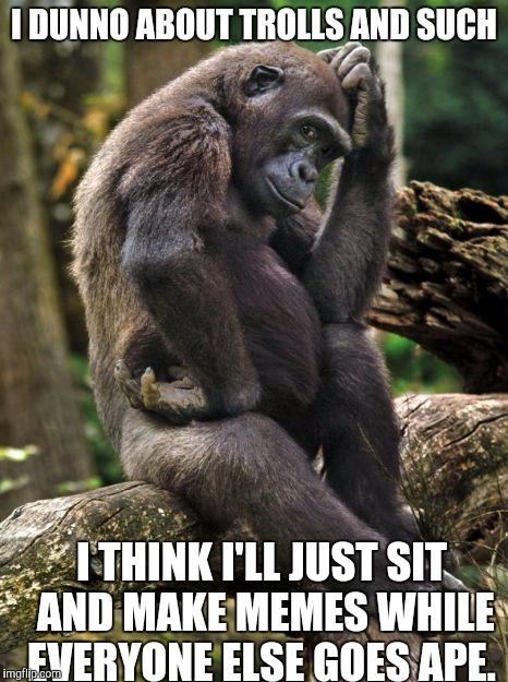 13k34g thinking gorilla imgflip