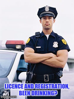 LICENCE AND REGISTRATION,  BEEN DRINKING? | made w/ Imgflip meme maker