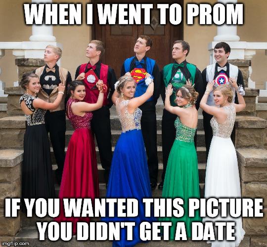 superhero prom imgflip