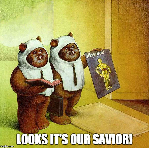 LOOKS IT'S OUR SAVIOR! | image tagged in the lord and saviour of the ewoks | made w/ Imgflip meme maker