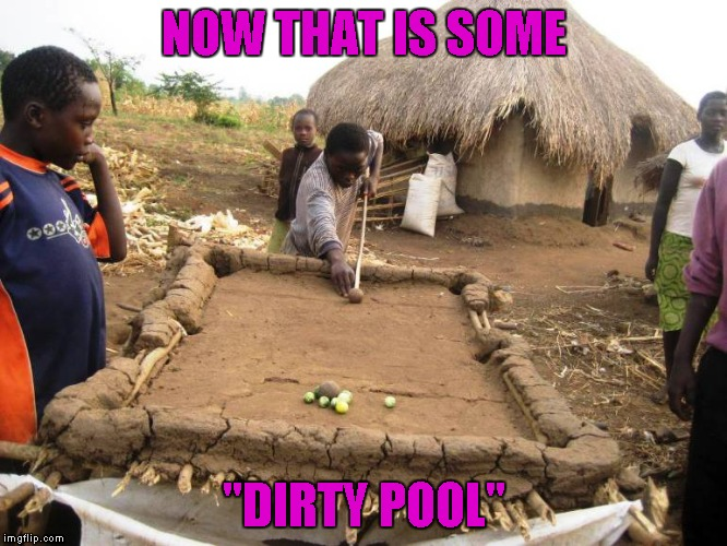 "If you can play pool on that, just imagine when you get to a ""real"" pool table! 