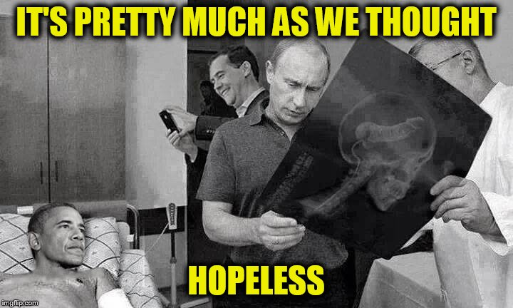 Move along, nothing to see here. | IT'S PRETTY MUCH AS WE THOUGHT HOPELESS | image tagged in memes,obama,putin | made w/ Imgflip meme maker