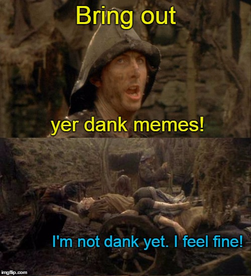 It's that time again! Post/link memes that didn't get past submission, or barely got any views, here!  | Bring out I'm not dank yet. I feel fine! yer dank memes! | image tagged in memes,dank,dank memes,imgflip,latest stream | made w/ Imgflip meme maker