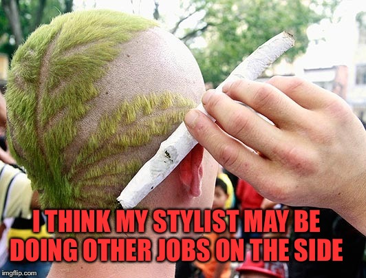 I THINK MY STYLIST MAY BE DOING OTHER JOBS ON THE SIDE | made w/ Imgflip meme maker