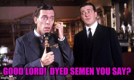 GOOD LORD!  DYED SEMEN YOU SAY? | made w/ Imgflip meme maker