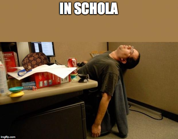 Asleep At Desk In Schola Image Tagged Sbag