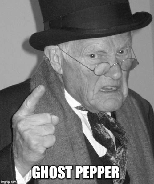 Back in my day | GHOST PEPPER | image tagged in back in my day | made w/ Imgflip meme maker