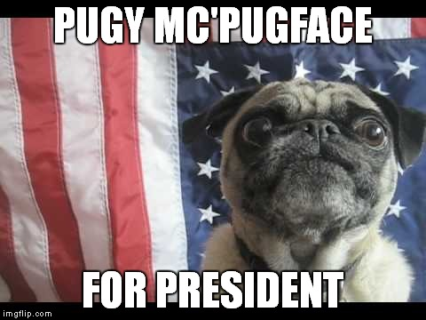 PUGY MC'PUGFACE FOR PRESIDENT | made w/ Imgflip meme maker