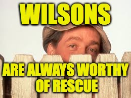 WILSONS ARE ALWAYS WORTHY OF RESCUE | made w/ Imgflip meme maker