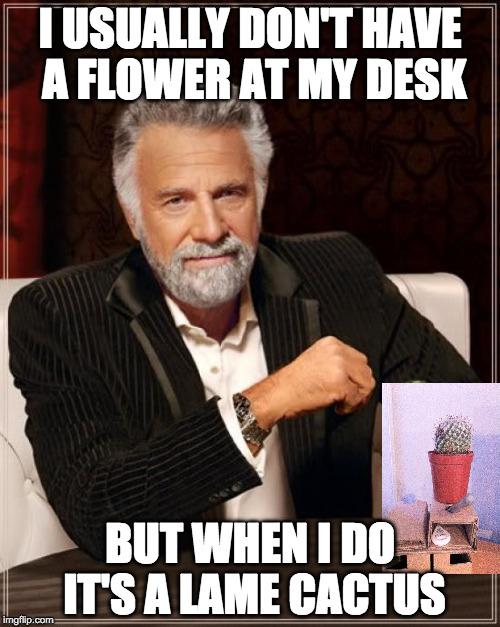 Desk Meme: The Most Interesting Man In The World Meme