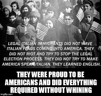 THEY WERE PROUD TO BE AMERICANS AND DID EVERYTHING REQUIRED WITHOUT WHINING | image tagged in how my grandfather came to the usa | made w/ Imgflip meme maker