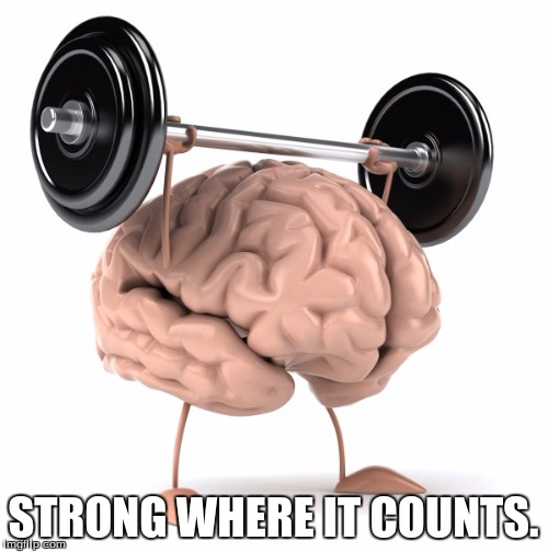 STRONG WHERE IT COUNTS. | made w/ Imgflip meme maker