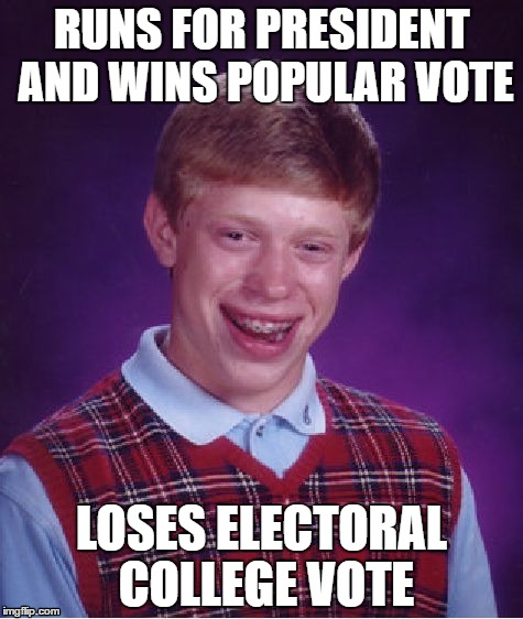 141pua bad luck brian for president imgflip,Electoral College Memes