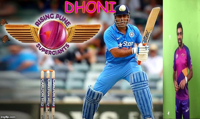 DHONI | image tagged in dhoni,scumbag | made w/ Imgflip meme maker