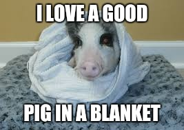 I LOVE A GOOD PIG IN A BLANKET | made w/ Imgflip meme maker