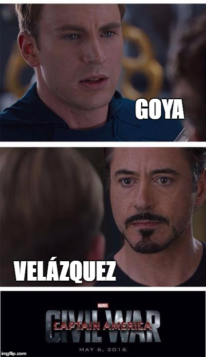 Marvel Civil War 1 Meme | GOYA VELÁZQUEZ | image tagged in memes,marvel civil war 1 | made w/ Imgflip meme maker