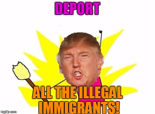 Trump X All The Y | DEPORT ALL THE ILLEGAL IMMIGRANTS! | image tagged in trump x all the y,memes,x all the y,deport,illegal immigration,donald trump | made w/ Imgflip meme maker
