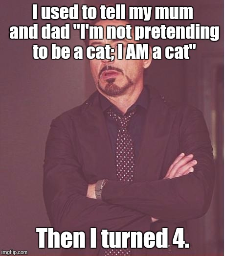 "Feel free to Google ""otherkin"" or ""dogkin"" or ""catkin"" or pretty much any word suffixed by ""-kin"" 