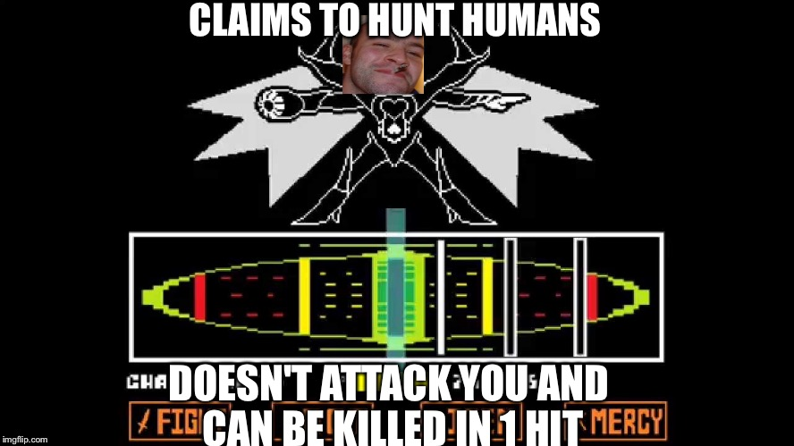 Good Guy NEO | CLAIMS TO HUNT HUMANS DOESN'T ATTACK YOU AND CAN BE KILLED IN 1 HIT | image tagged in memes,good guy greg,undertale,mettaton | made w/ Imgflip meme maker