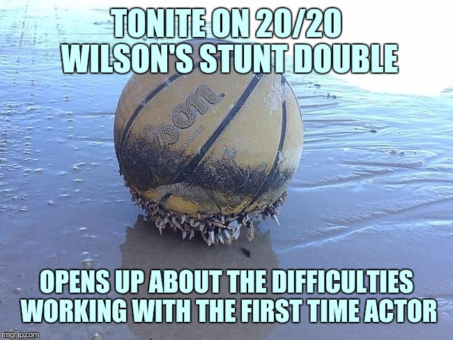 TONITE ON 20/20 WILSON'S STUNT DOUBLE OPENS UP ABOUT THE DIFFICULTIES WORKING WITH THE FIRST TIME ACTOR | made w/ Imgflip meme maker